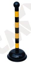 Advarselsstander gul/sort