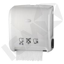 Dispenser t/håndklæderulle, Autocut, hvid