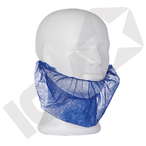 Skægbind m/elastik, blå  PP