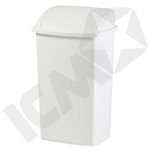 Papirkurv 50L, hvid, H56 x B34 x D23 cm