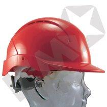 Roofer hjelm kort skygge m/håndhjul rød
