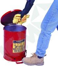 Brandsikker affaldsspand