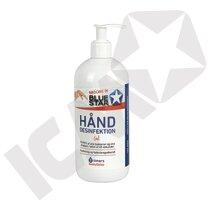 BlueStar Hånddesinfektion m/pumpe 500 ml