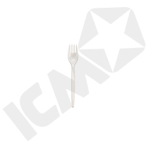 Gaffel, hvid plast 17 cm, 20x100 stk