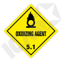 132262 Oxidizing agent kl. 5.1 fareseddel  100x100mm