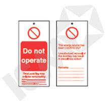 "Brady LOTO Skilt ""Do Not Operate"""