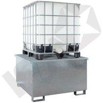 Lacont Opsamlingskar Galvaniseret Stål t/1 IBC Tank
