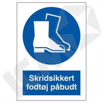 P210VA4 Skridsikkert fodtøj påbudt  A4