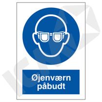 P202VA6 Øjenværn påbudt  A6