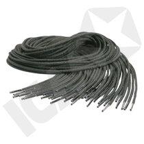 Snørebånd Elastisk Sort 75 cm